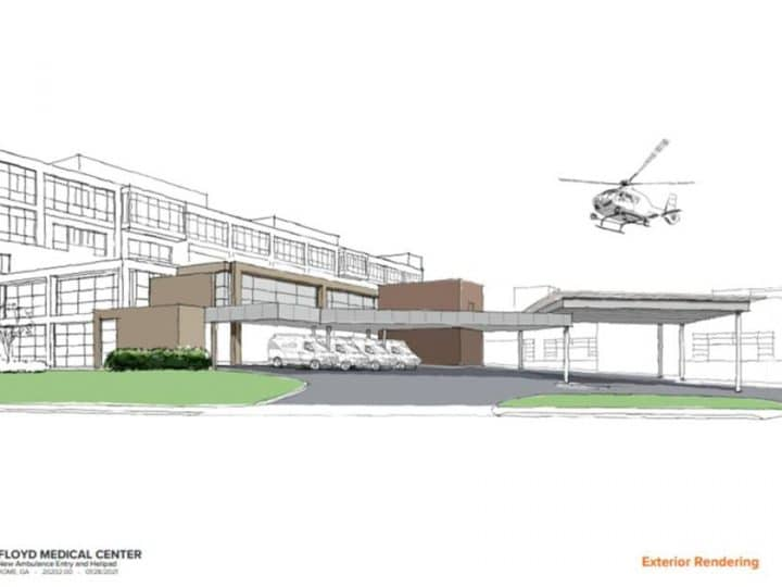 Helipad project moving forward as part of the changing face of Floyd Medical Center | Business